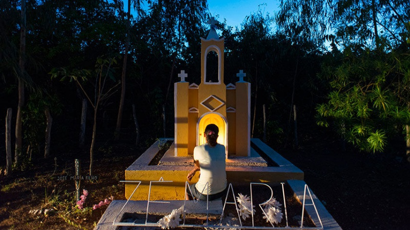 Jose Maria Filho, a Ceara farmer, was shot to death after waging a campaign against the overuse of pesticides. His widow, Maria Lucinda Xavier, recently visited a monument to him the family built at his murder site. REUTERS/Davi Pinheiro