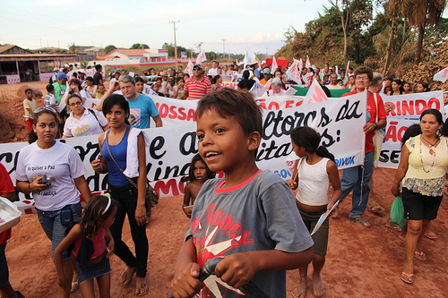 Protest Against Belo Monte Dam in Altamira, Brazil