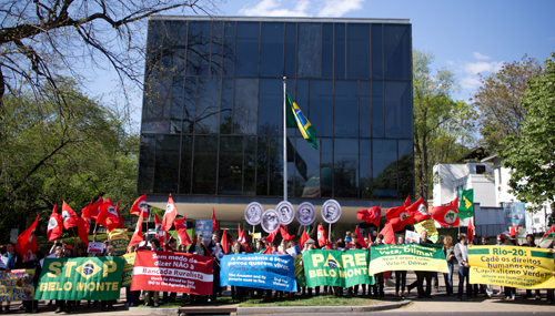 April 9 DC demo - Brazilian Embassy