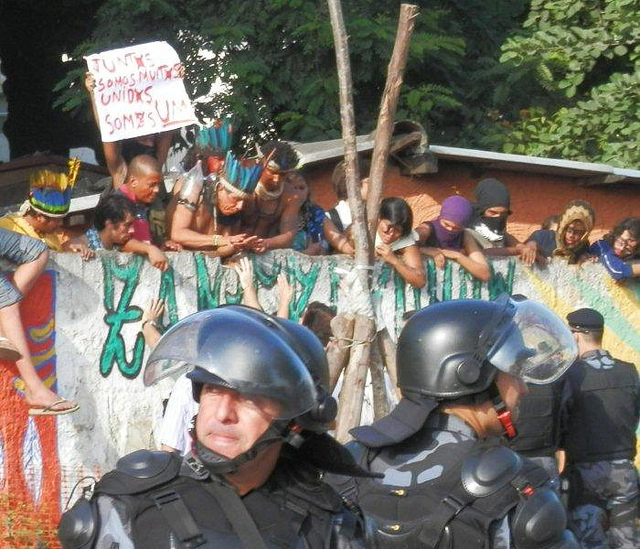 Indigenous Protesting Taking of Land in Rio