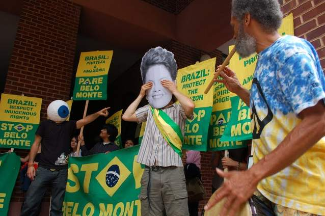 Protest Against Belo Monte Dam in Washington DC