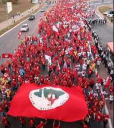 MST March in Brasilia
